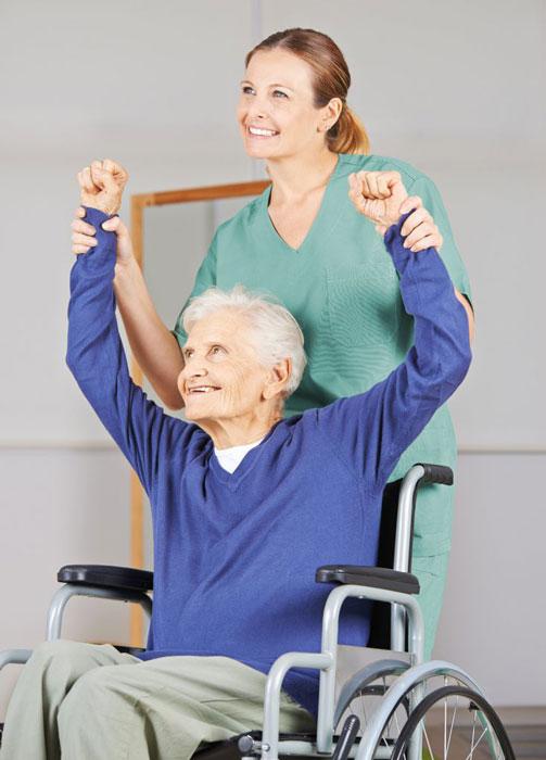 podczas rehabilitacji osoby starszej